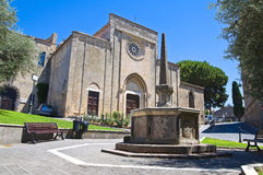 Church of St. Francesco. Tarquinia. Lazio. Italy. Stock Image