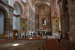 Church of St. Francis Of Assisi. Old Goa, India - October 22, 2015 - Church of St. Francis Of Assisi Royalty Free Stock Photography