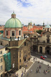Church of St. Francis of Assisi. In Prague Stock Images
