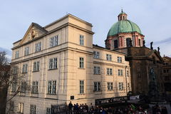 The Church of St. Francis of Assisi (or St. František Serafínský) is situated in Prague on K�ižovnickém square, Prague, Royalty Free Stock Images