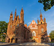 Church of St. Francis of Assisi in Vilnius. Lithuania Stock Photography
