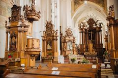 Church Of St. Francis And St. Bernard In Old royalty free stock photography