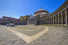 Church of St. Francis in naples Royalty Free Stock Photo