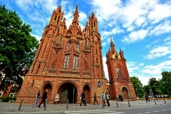 Church of St. Francis and St. Bernard, Vilnius Royalty Free Stock Images
