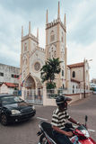 The Church of St. Francis Xavier Malay: Gereja St. Francis Xavier is a church in Melaka City, Melaka, Malaysia Royalty Free Stock Image