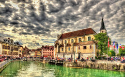 Church of St Francois de Sales in Annecy stock photography