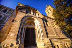 Church of St Gabriel or Kostel sv. Gabriela in Prague, street architecture of Czech republic. Church of St Gabriel or Kostel sv. Gabriela in Prague, street royalty free stock image