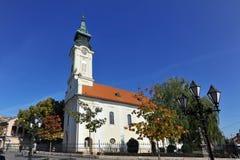 Church of St Georg in Sombor, Serbia. SOMBOR, SERBIA - OCTOBER 11: Orthodox church in Lazarevac, on October 11 2017 in Sombor, Serbia Stock Images