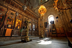 Church of St. George the Dragon Slayer. In Lod, Israel stock images