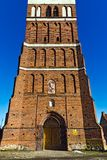 Church of St. George (Kirche Friedland). City Pravdinsk (until 1946 Friedland), Kaliningrad oblast, Russia Royalty Free Stock Photo