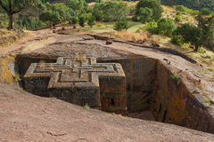 Church of St. George in Lalibela royalty free stock image