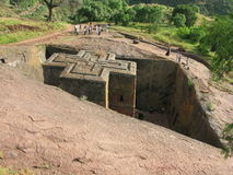 Church of St George, Lalibela, Ethiopia. The rock hewn church of St. George in Lalibela, Ethiopia Royalty Free Stock Images