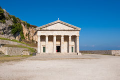 The church of St. George at the Old Fortress. Corfu, Greece. Royalty Free Stock Image