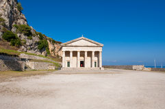 The church of St. George at the Old Fortress on the island of Corfu, Greece. Stock Photography