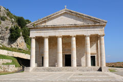 The Church of St. George in Old Fortress of Kerkyra in Corfu, Greece Royalty Free Stock Images