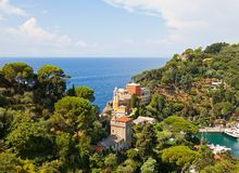 Church of St. George (1154) in Portofino, Italy Stock Photography