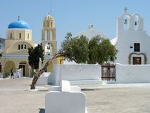 Church of St. George, Santorini Island Stock Photography