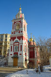 The church of St. George on street Varvarka in Moscow, Russia Royalty Free Stock Image