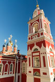 Church of St. George in street  at Varvarka, Russia Stock Images