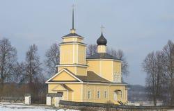 The Church of St. George in Trigorskoye. Pushkinskiye Gory Stock Photo