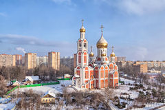 Church of St. George the Victorious in Odintsovo in winter Royalty Free Stock Photography