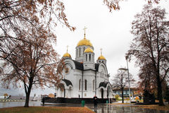 Church of St. George Victorious in Samara. Church of St.George Victorious near the Volga river-side in Samara. Russia. Europe Stock Photo
