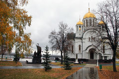 Church of St. George Victorious in Samara, Russia. Church of St.George Victorious near the Volga river-side in Samara. Russia. Europe Stock Photography