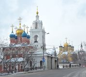 Church of St. George the Victorious, Varvarka Street, Moscow, Russia. Stock Photos