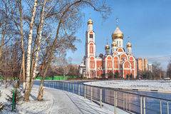 Church of St. George the Victorious in winter, Odintsovo Stock Image