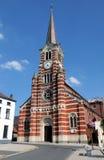 Church St Gery, Rebecq,Belgium. 19th century. Height 52 m Royalty Free Stock Photos
