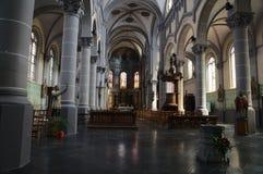 Church St Gery, Rebecq,Belgium. 19th century. Inside view royalty free stock photo