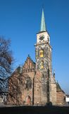 Church of St.Gilesin ,Nymburk Stock Photography