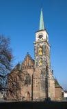 Church of St.Gilesin ,Nymburk Stock Photography