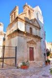 Church of St. Giuseppe. Monopoli. Puglia. Italy. Royalty Free Stock Photo