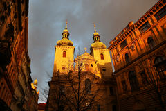 Church of St. Havel in Prague, Czech Republic Royalty Free Stock Image