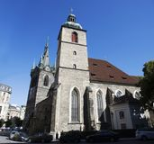 Church of St Henry and St Kunhut near Henry`s Bell Tower in Prague, Czech Republic Royalty Free Stock Images