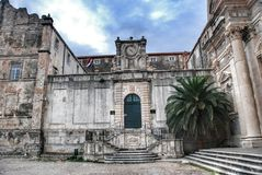 Church of St. Ignatius and the Jesuit College in the Historic Old Town of Dubrovnik, Croatia. Stock Photos