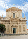 Church of St. Ignatius in Dubrovnik, Croatia Stock Image