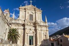 Church of St. Ignatius in Dubrovnik Stock Photo