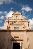 Church of St. Ignatius. Vilnius, Lithuania Royalty Free Stock Photography