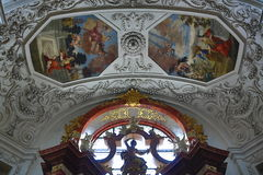 The church of St. Ignazio, which faces the Charles Square and the Jesuit campus, became a centre of the Jesus Fellowship Order. A picture of the church of St Royalty Free Stock Images