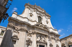 Church of St. Irene. Lecce. Puglia. Italy. Stock Image