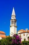 Church of St Ivan, Budva old town, Montenegro. Church of St Ivan, Budva old town stock photography