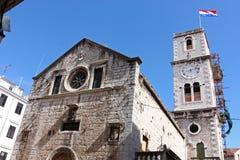 Church of St. Ivan. Catholic church of St. Ivan, Sibenik, Croatia royalty free stock images