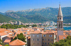 Church of St Ivan and old town, Budva. Montenegro Royalty Free Stock Image