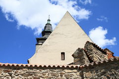 Church of st. Jakob. In Telc (Czech Republic Stock Photography