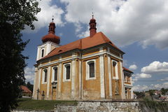 Church of St. James in Mnichovo Hradiste Stock Image
