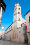 Church St.Jeronim in main street,  Sradun, Dubrovnik, Croatia Royalty Free Stock Image