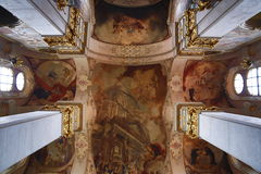 The church of St. Jiljí on Husova Street in Prague's Old Town. Czech Royalty Free Stock Photography