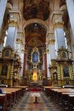 The church of St. Jiljí on Husova Street in Prague's Old Town. Czech Stock Images